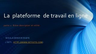 La plateforme en ligne  : Introduction ( partie 1)