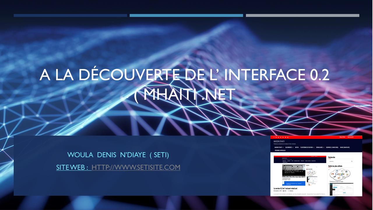 Présentation de la version 0.2 de mhaiti.net