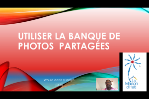 Utiliser la banque de photos collaboratives